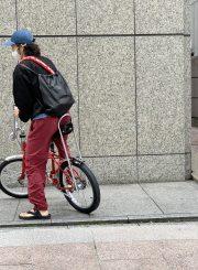 汗かきの自転車通勤スタイル