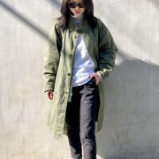 【HARVESTY】MILITARY OVER COAT